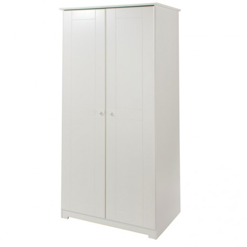 2 Door Wardrobe Banff Warm White Painted