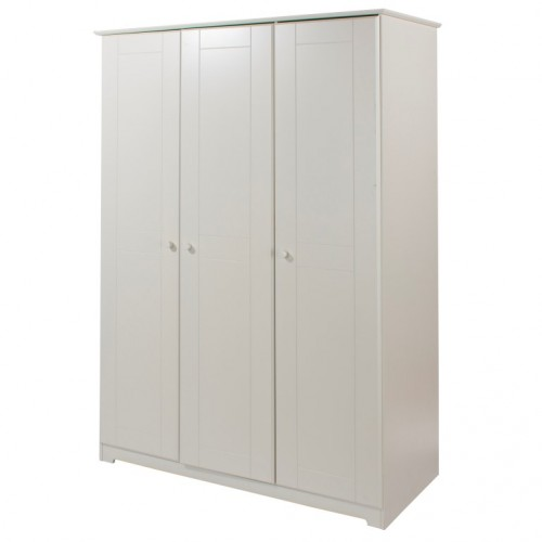 3 Door Wardrobe Banff Warm White Painted