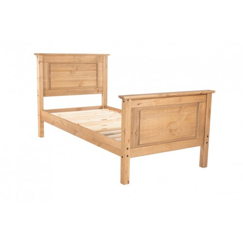 3' High End Bedstead Capri Waxed Pine & White