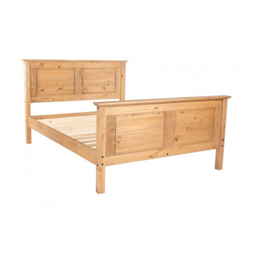"4'6"" High End Bedstead Capri Waxed Pine & White"