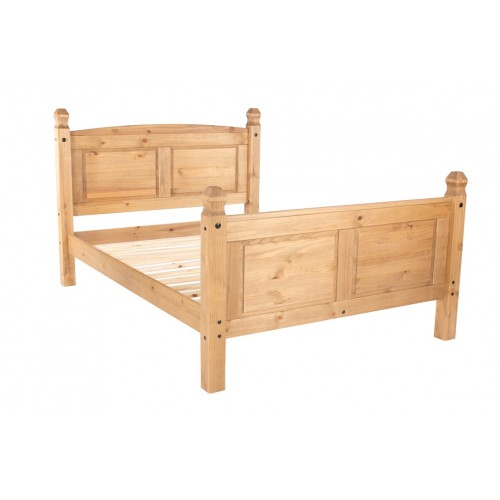 5' High End Bedstead Capri Waxed Pine & White