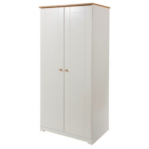 2 Door Wardrobe Colorado Warm White Painted
