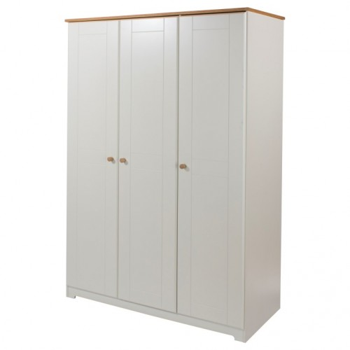 3 Door Wardrobe Colorado Warm White Painted