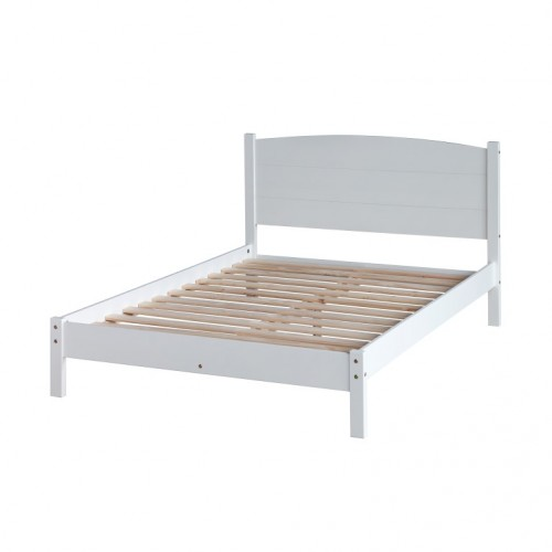 "4'6"" Panel Lowend Bedstead Colorado Warm White Painted"
