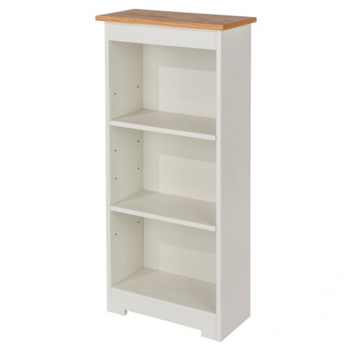 Low Narrow Bookcase Colorado Warm White Painted