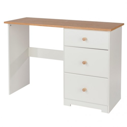 Single Pedestal Dressing Table Colorado Warm White Painted