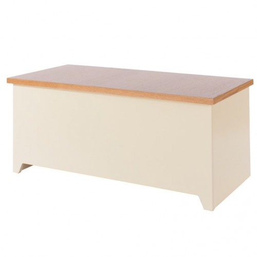 Ottoman Jamestown Oak Cream Painted