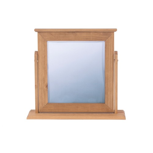 Single Mirror Capri Waxed Pine & White