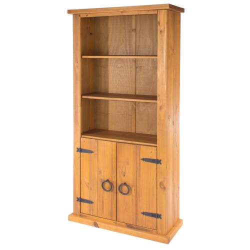 2 door bookcase farmhouse pine rough