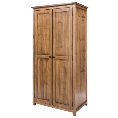 2 door wardrobe denver handcrafted aged effect