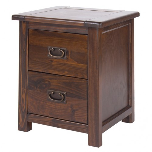2 drawer bedside cabinet boston handcrafted dark