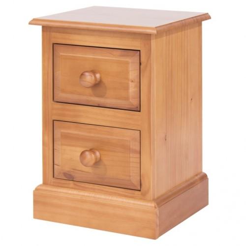 2 drawer petite bedside cabinet Edwardian pine