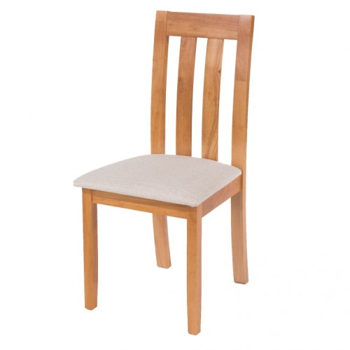 chair with cream fabric seat pad hamilton classic style
