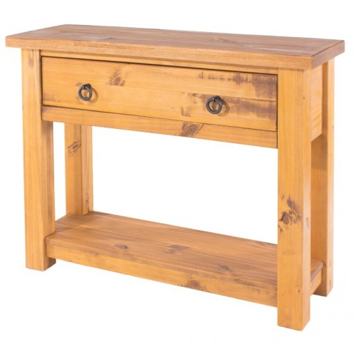 console table farmhouse pine rough