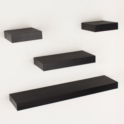 4 pcs narrow hudson shelf pack matt Black  Shelf kit sets matt finish
