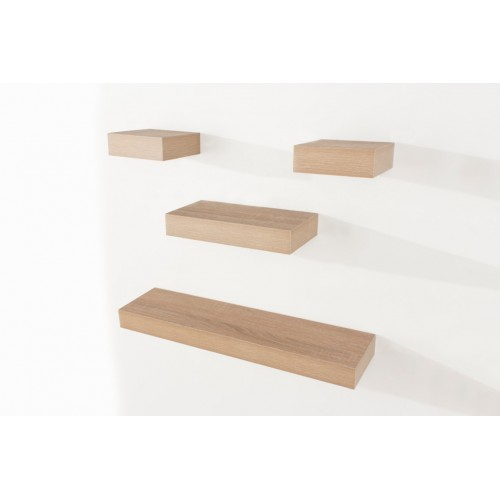 4 pcs narrow hudson shelf pack oak effect Shelf kit sets matt finish