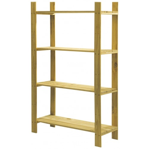 4 shelf slatted storage unit  Home Ideas shelving and storage natural wood