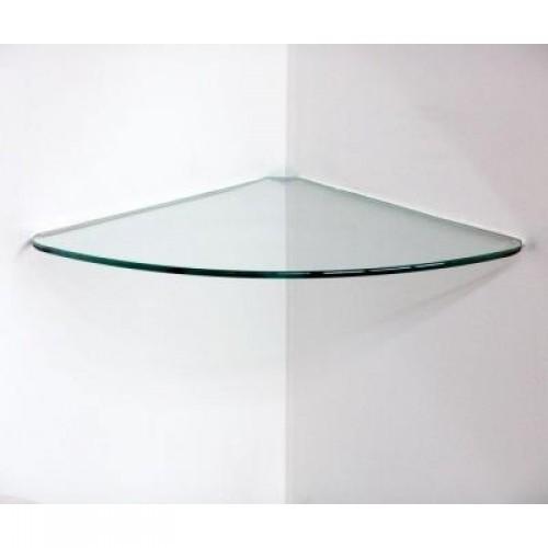 glass corner shelf kit clear  pearl glass shelf kits