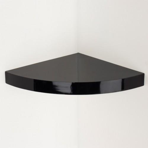 Hudson corner box shelf kit  gloss black