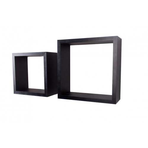 Set of 2 cubes matt black Shelf kit sets matt finish