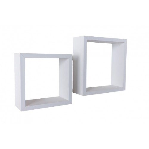 Set of 2 cubes matt white Shelf kit sets matt finish
