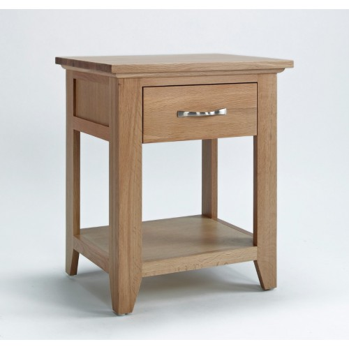 Sherwood Oak 1 Drawer Lamp Table
