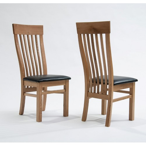 Sherwood Oak Dining Chair With Black Seat