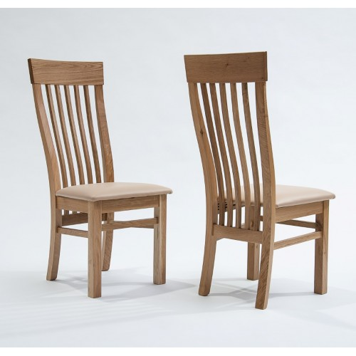 Sherwood Oak Dining Chair with Cream Seat