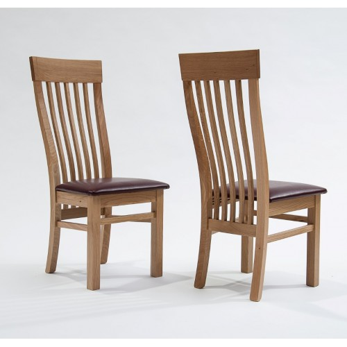 Sherwood Oak Dining Chair with Red Seat