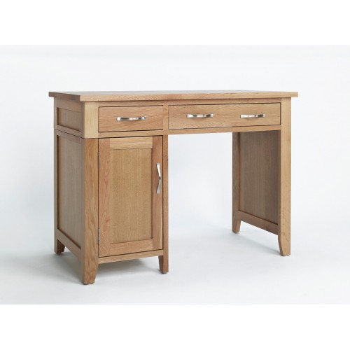 Sherwood Oak Single Pedestal Desk