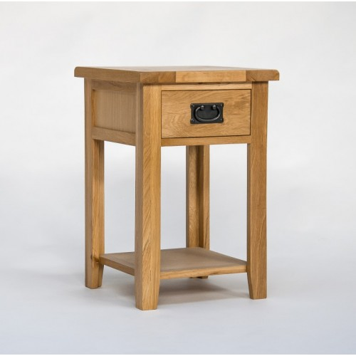 Westbury Oak 1 Drawer Narrow Bedside
