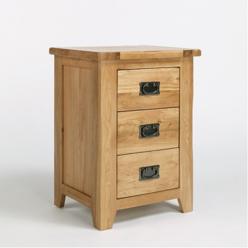 Westbury Oak 3 Drawer Bedside