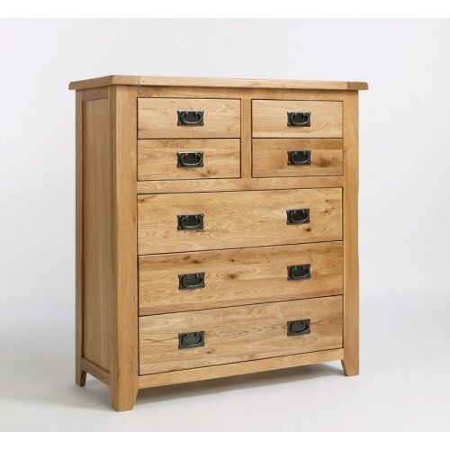 Westbury Oak 4 Over 3 Drawer Chest