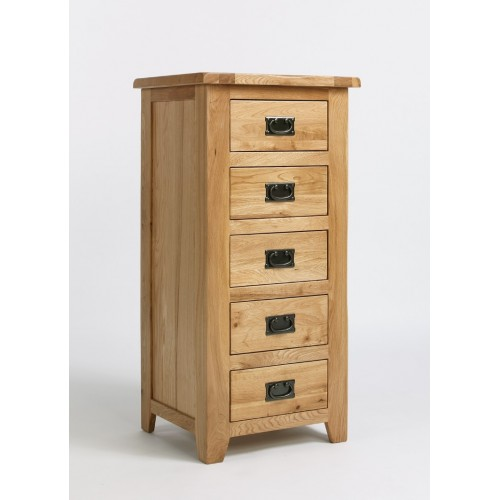 Westbury Oak 5 Drawer Wellington