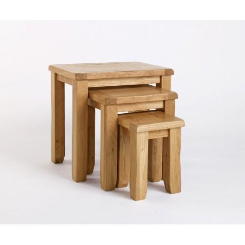 Westbury Oak Nest of Tables