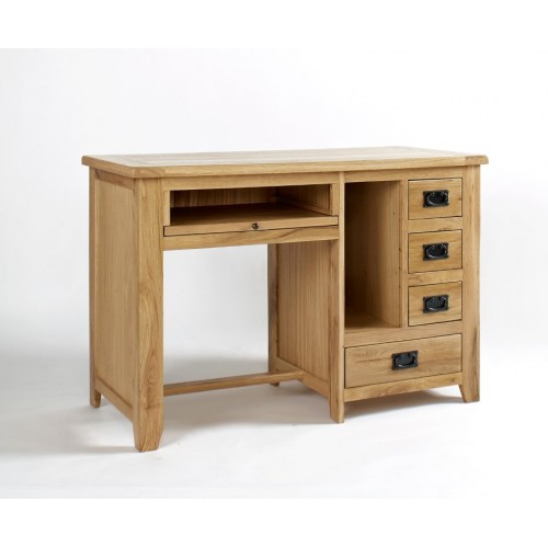 Westbury Oak Single Pedestal Desk