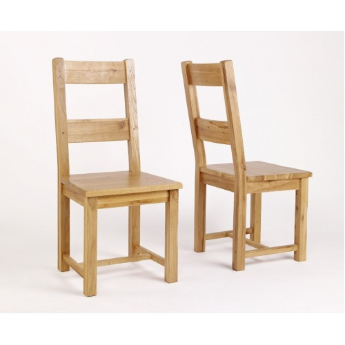 Westbury Oak Timber Dining Chair - Pair