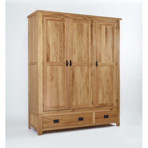 Westbury Oak Triple Wardrobe