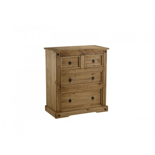 2+2 drawer chest corona premium waxed pine