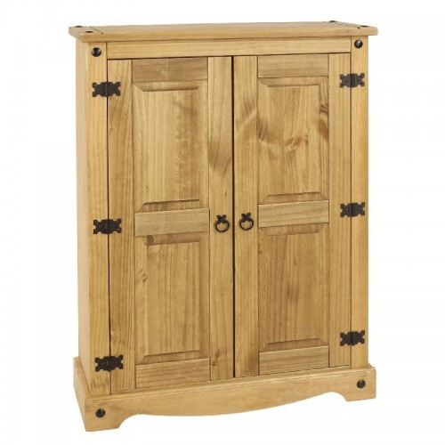 2 door cupboard unit corona premium waxed pine