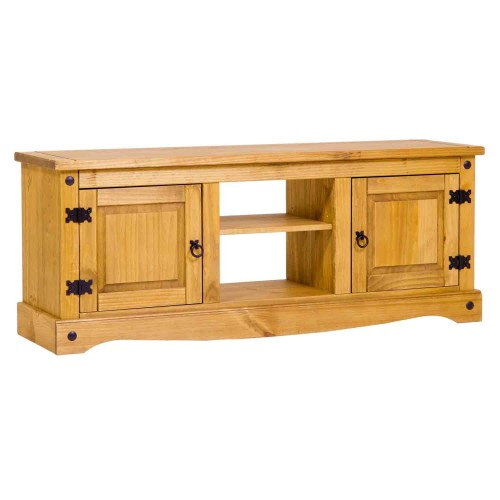 2 door flat screen TV unit corona premium waxed pine