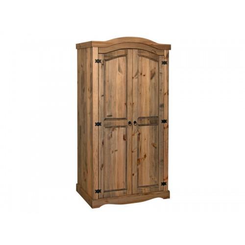 2 door wardrobe corona premium waxed pine
