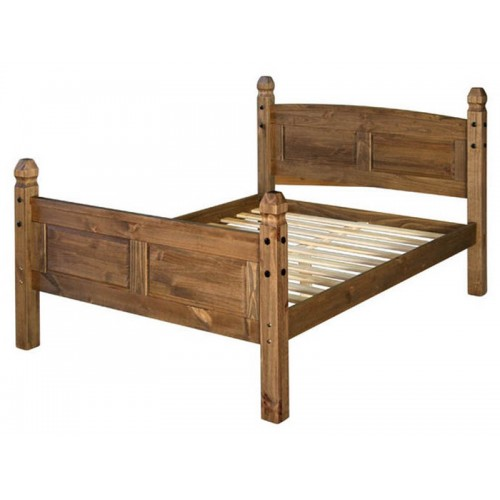 "4'6"" high end bedstead corona premium waxed pine"