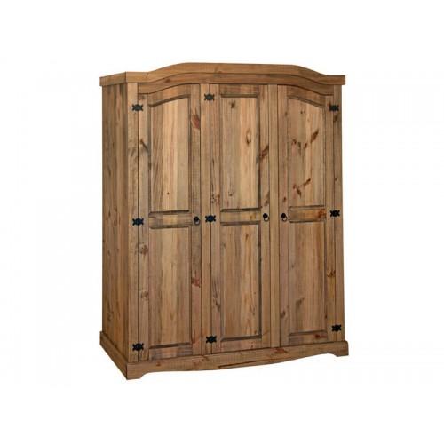 3 door wardrobe corona premium waxed pine