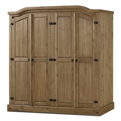 4 door wardrobe corona premium waxed pine