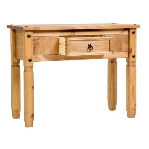 console table corona premium waxed pine
