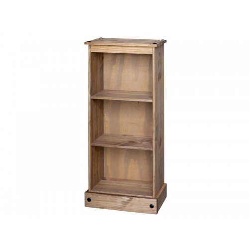 low bookcase corona premium waxed pine