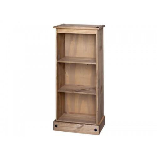 low bookcase corona premium waxed pine
