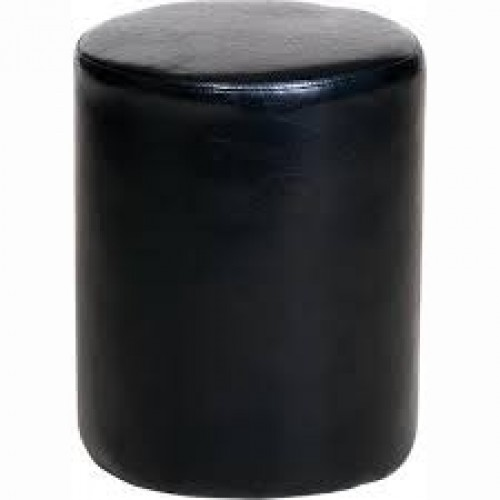 round stool in black faux leather corona premium waxed pine