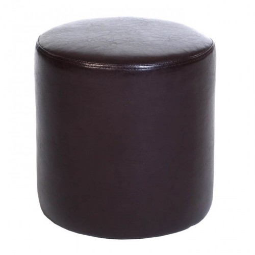 round stool in brown faux leather corona premium waxed pine